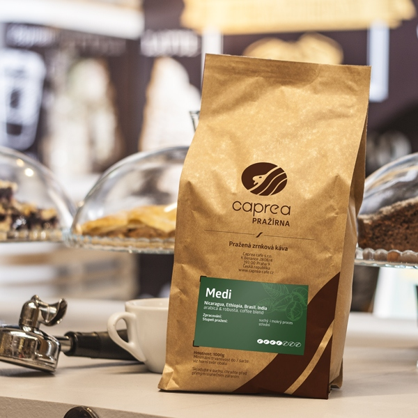 Zrnková káva Medi Caffe