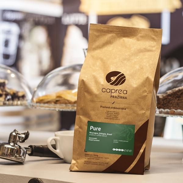 Zrnková káva Pure Caffe
